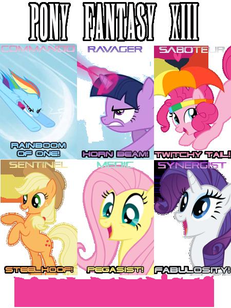Pony Fantasy XIII - Pony Paradigms by shadesmaclean