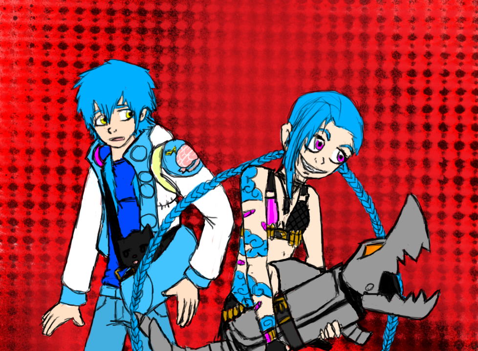 Blue hair by VoltageDiamond