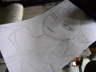 Elsa 1 WIP by lilredbleed