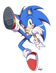 Sonic SSBU pose by VagabondWolves