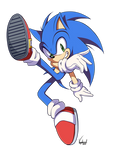 Sonic SSBU pose