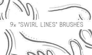 Swirl Lines Brushes