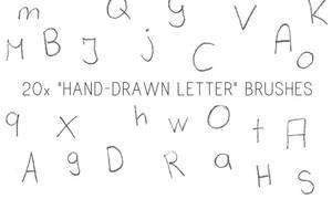 Hand-drawn Letter Brushes