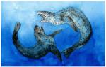 Sparring Leopard Seals