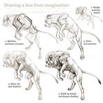 Tutorial: Drawing a lion from imagination