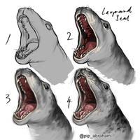 Leopard seal speedpaint process