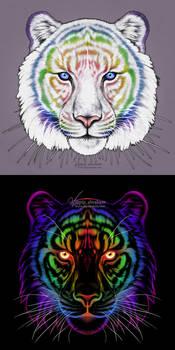 #Draw30Animals 4: Pride - Rainbow Tiger