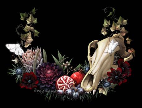 Tasmanian tiger gothic wreath