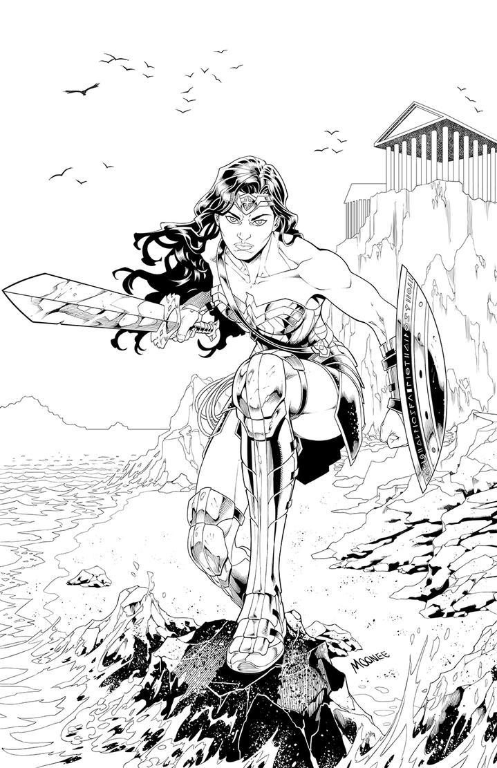 Wonder Woman - lines by MooneeArt