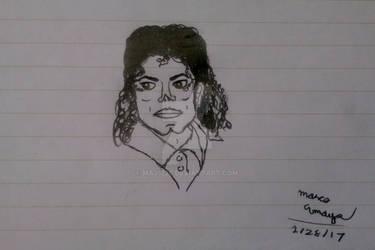MJ Portrait Sketch