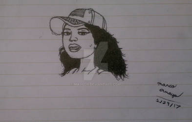 Nicki Minaj Protrait Sketch