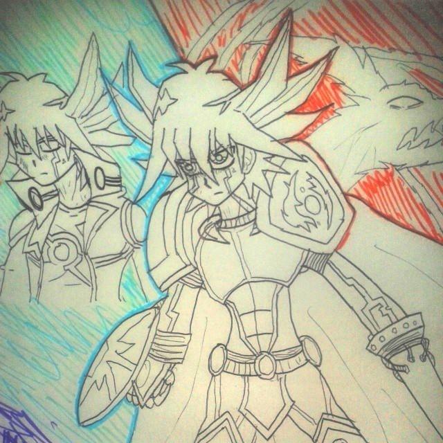 Yusei's Crimson Armor by 459Silver