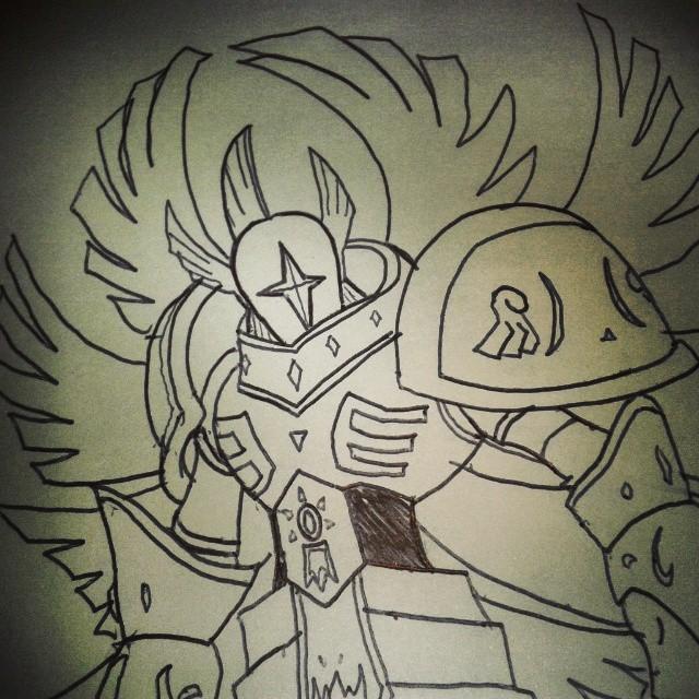 Seraphimon Sketch by 459Silver