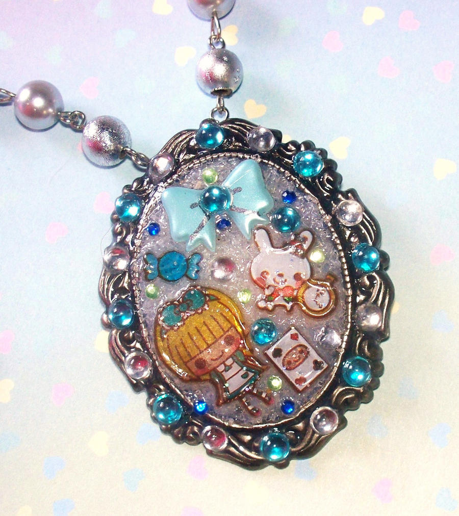 Alice in Wonderland Necklace by Cuddlebugeeshi