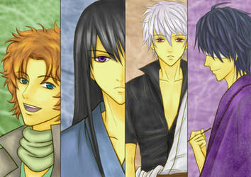 Gintama - The Joi members by Benitora53