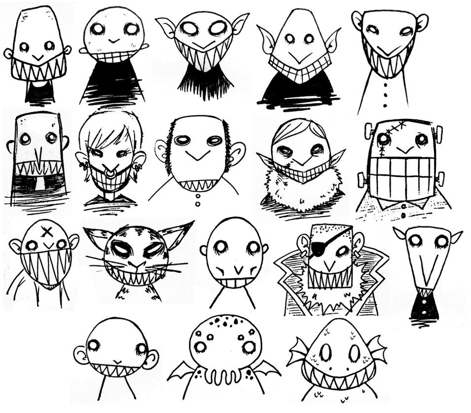 Bramando Monsters from my Inktober 2016 by TonxuBramando