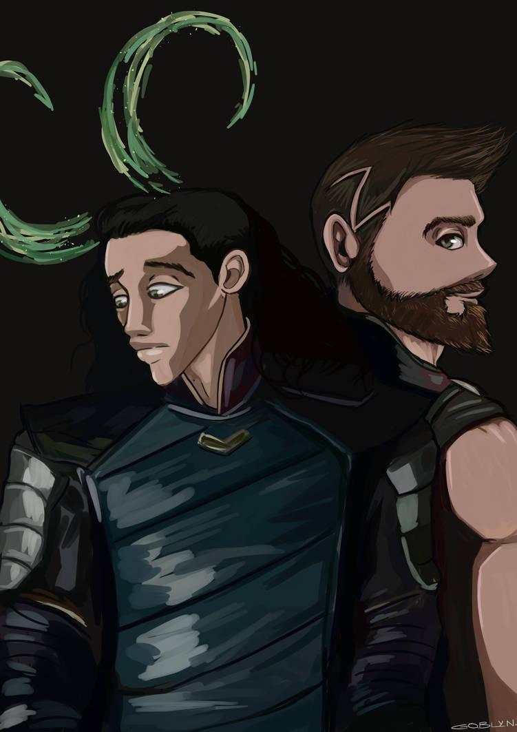 Thor And Loki Ragnarok Fanart By Brushgoblyn On Deviantart