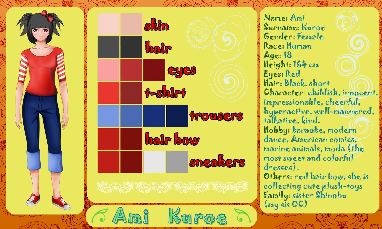 OC Sheet: Ami by kinga-saiyans