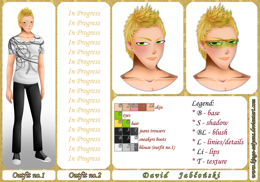 OC Sheet: David Jablonski by kinga-saiyans