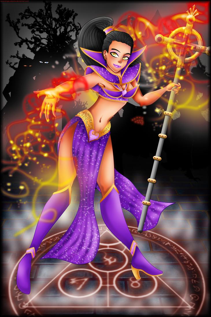 Contest Entry: The Wizard - DIABLO III by kinga-saiyans