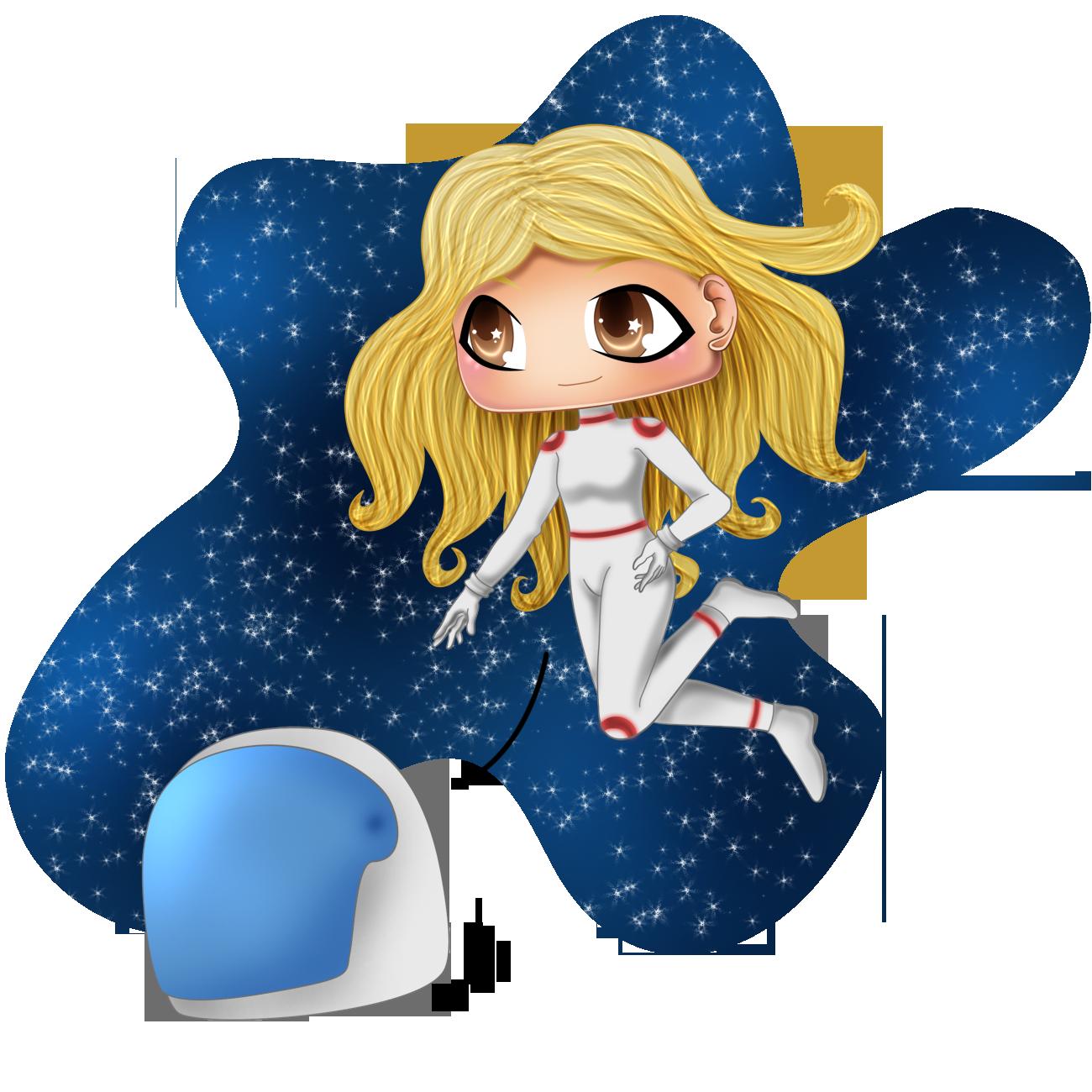 Commission: Chibi BlondHaired Girl in Cosmos by kinga-saiyans