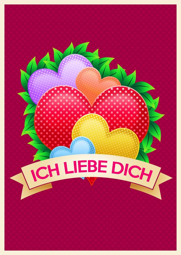 Postcard. Vday (German) by kinga-saiyans