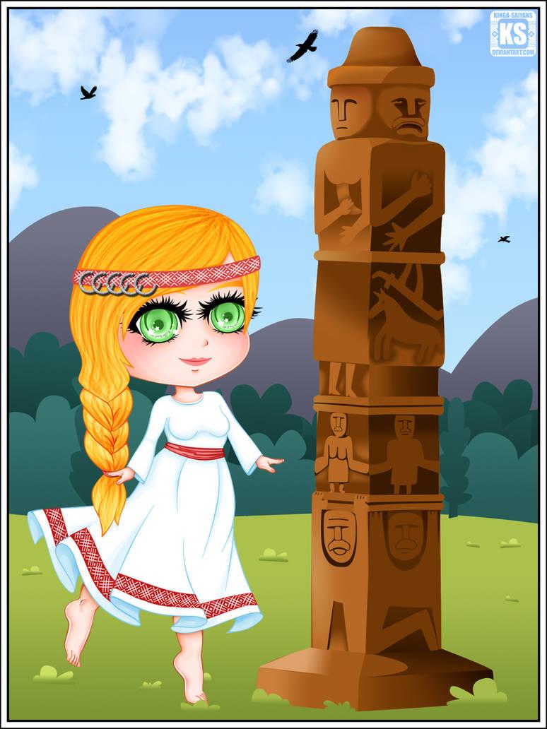 Chibi Slavic Girl (one braid)