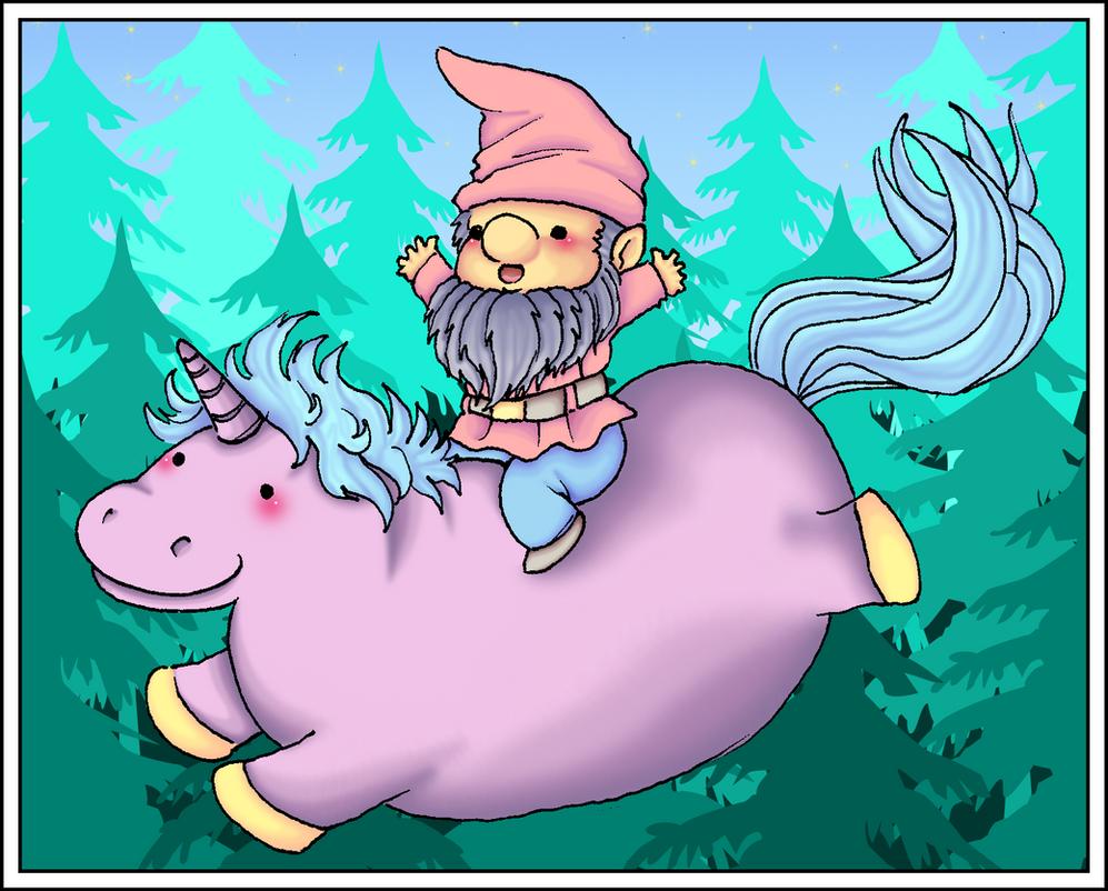 COLLAB: Hippocorn with gnome by kinga-saiyans