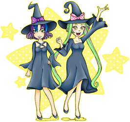COLLAB: Plum and Melissa (witches)