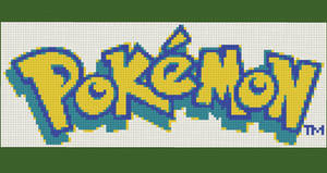 Pokemon Logo Pixel Art by Nonamewayward