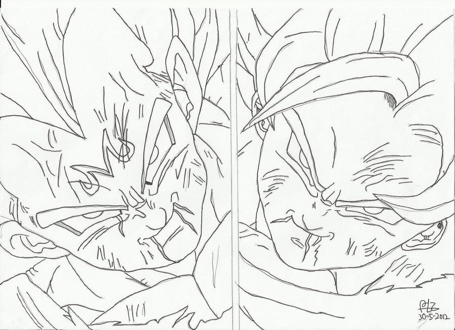 Vegeta Para Colorear Baby Para Goku Y Vegeta Para Pintar: Busqueda De Goku Para Colorear