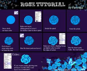 Rose Tutorial by fireytika