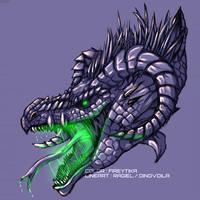 Acid Dragon - Monochrome [collab] by fireytika