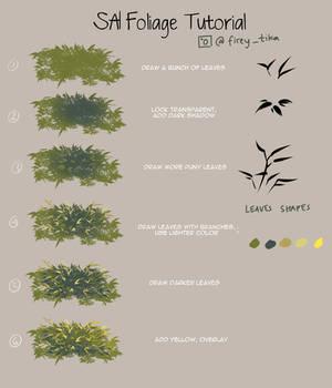 Fireytika SAI Foliage Tutorial