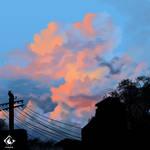 Blue Orange Sky by fireytika