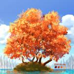 Japanesse mapple tree - Daily Tree day 4 by fireytika