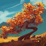 Autumn tree - Daily tree day 5 by fireytika