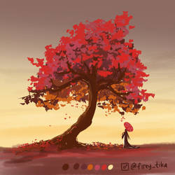 Red mapple tree - Daily tree day 8
