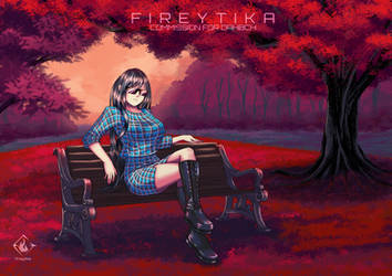 Sitting at red forest [C]