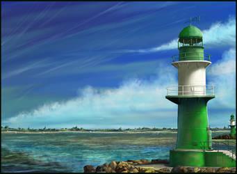 Green Lighthouse by JanaW