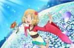 Pokemon Trainer Serena + Floette (Spring Special) by FankiFalu