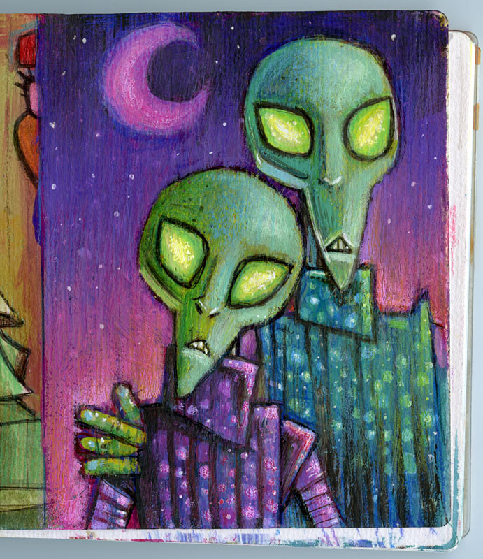 Alien couple by ecofugal