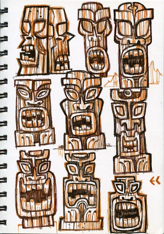 Tiki God designs by ecofugal