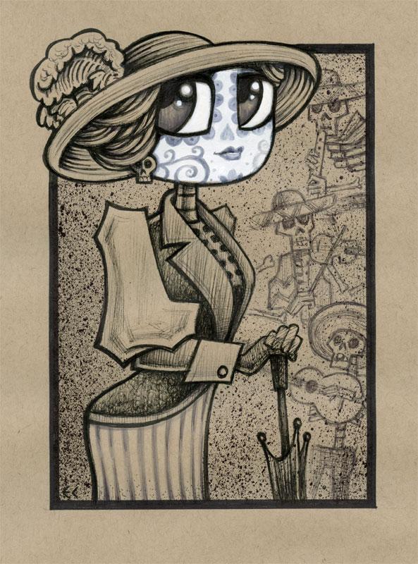 Dia de los Muertos Girl 1 by ecofugal