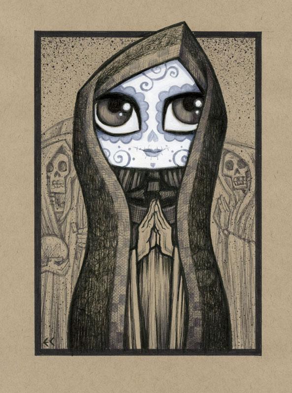 Dia de los Muertos Girl 2 by ecofugal