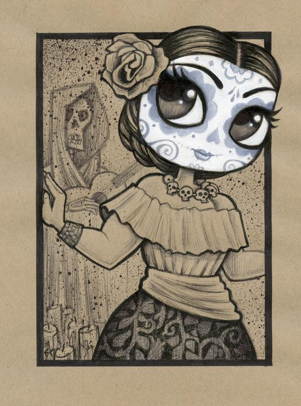 Dia de los Muertos Girl 3 by ecofugal