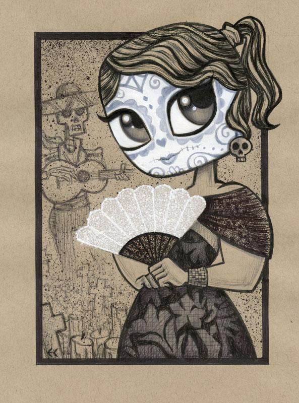 Dia de los Muertos Girl 4 by ecofugal