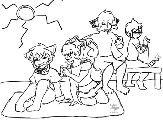 Draw The Squad Beach Day SKETCH By PuppyDogArtist