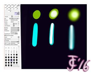 Custom Gaussian Blur Brush - SAI Settings