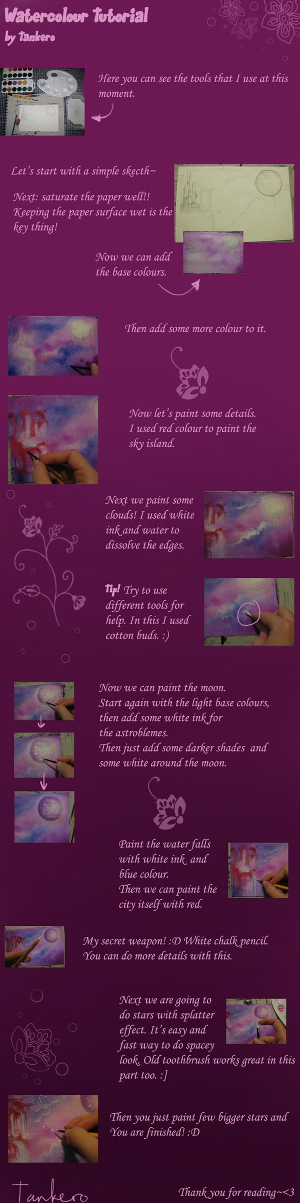Watercolour Tutorial by Tankero